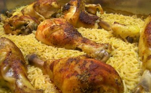 Chicken Cooked in Rice