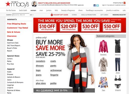 Macy's shop online