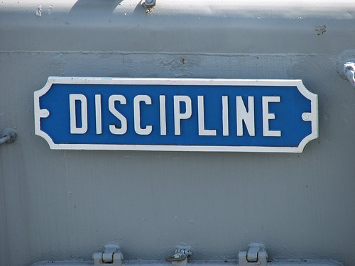 Discipline Yourself and Set Your Mind