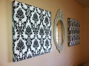 Fabric art wall art 300x224