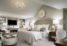 Monochromatic colour Bedroom Interiors Decoration