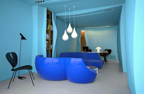 Blue Office interior