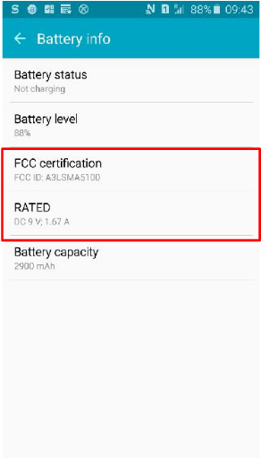 Galaxy A5 Upgraded Battery