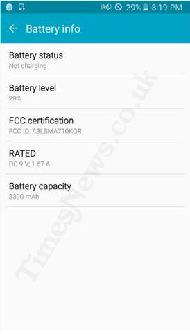 Galaxy A7 2016 battery