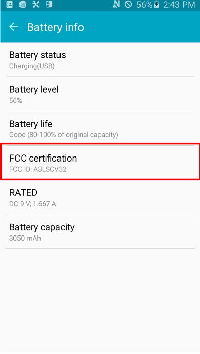Galaxy A8 SCV32 FCC