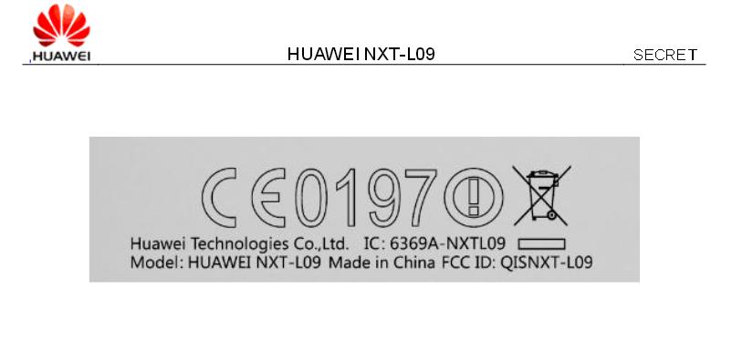 Huawei Mate 8 FCC