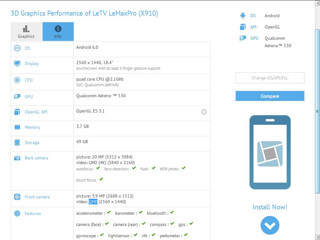 LeTV Le Max Pro (X910)