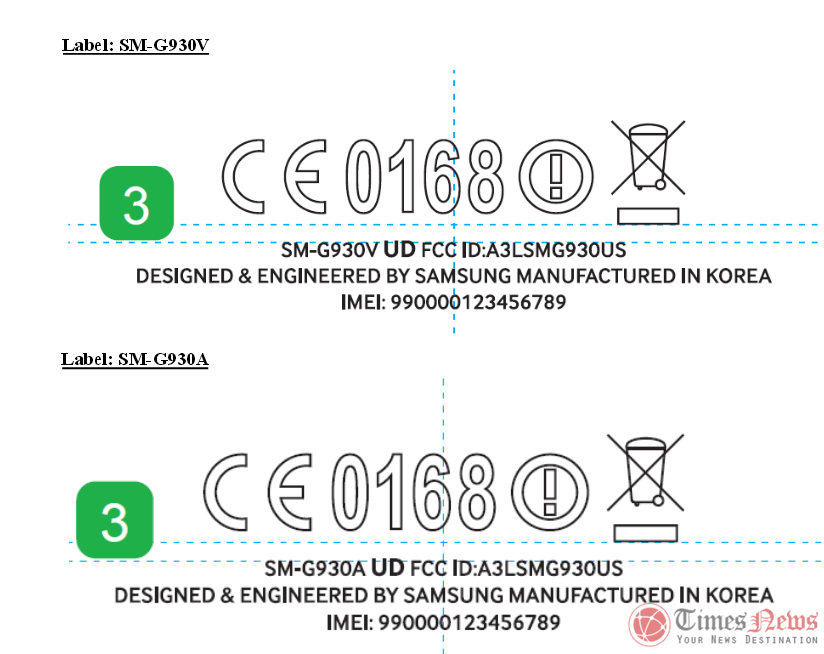 Galaxy S7 SM-G930A FCC