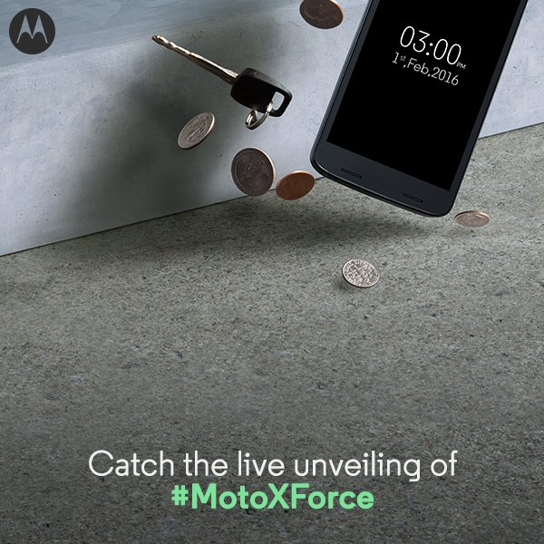 Moto X Force India launch teaser