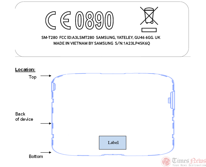 Samsung Galaxy Tab E 7.0 (SM-T280)