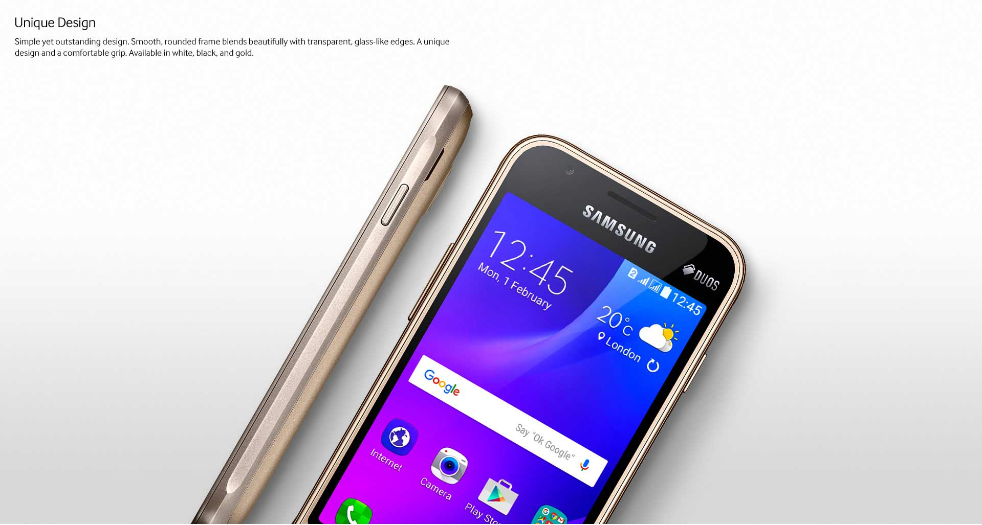 Samsung Galaxy J1 Mini design