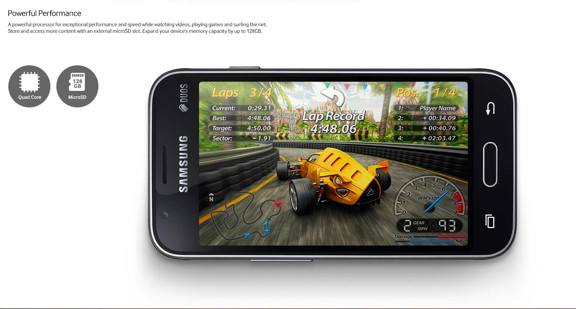 Samsung Galaxy J1 Mini gaming