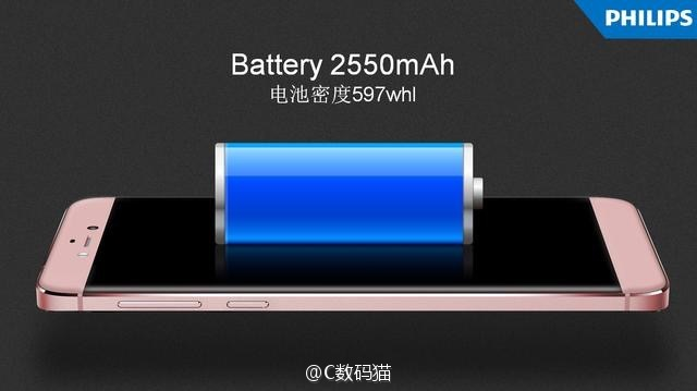 Philips S653H official leaked image battery info