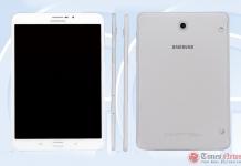 Samsung Galaxy Tab S3 8.0 (SM-T719C) TENAA
