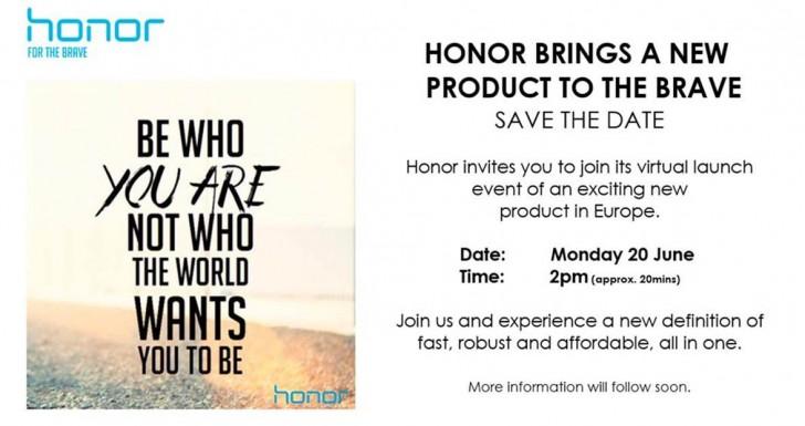 Huawei Honor june 20 event Europe