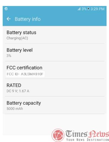 Galaxy A9 Pro (SM-A910F) FCC