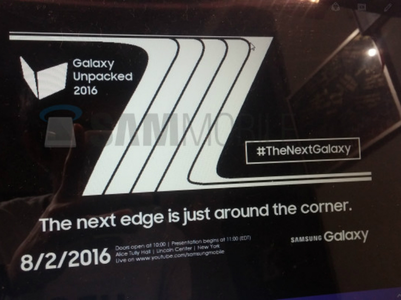 Samsung Galaxy Note 7 August 2 event