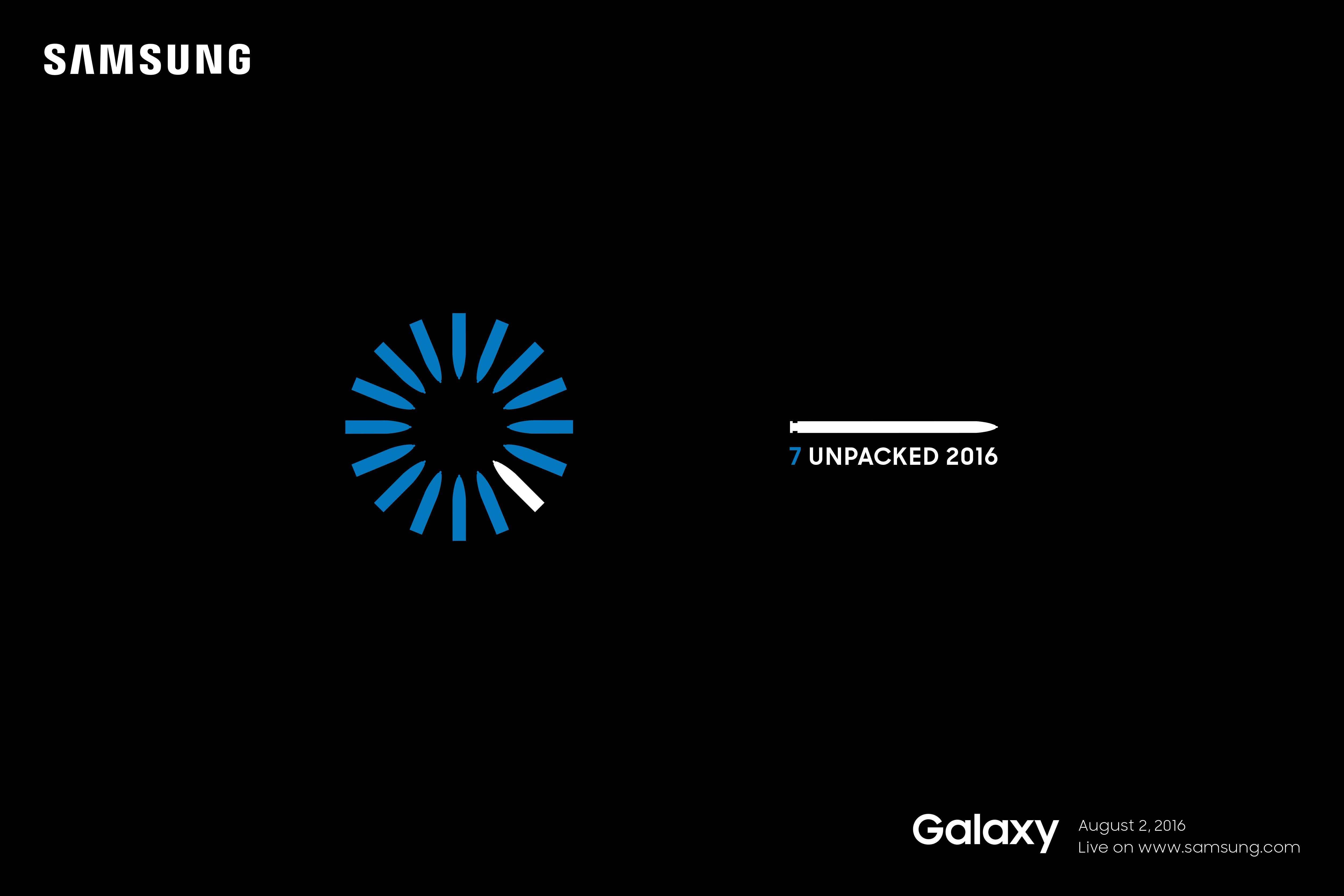 Galaxy Note Unpacked 2016 event for Galaxy Note7