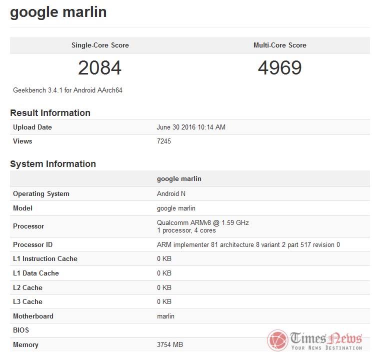 HTC Google Marlin Nexus Geekbench