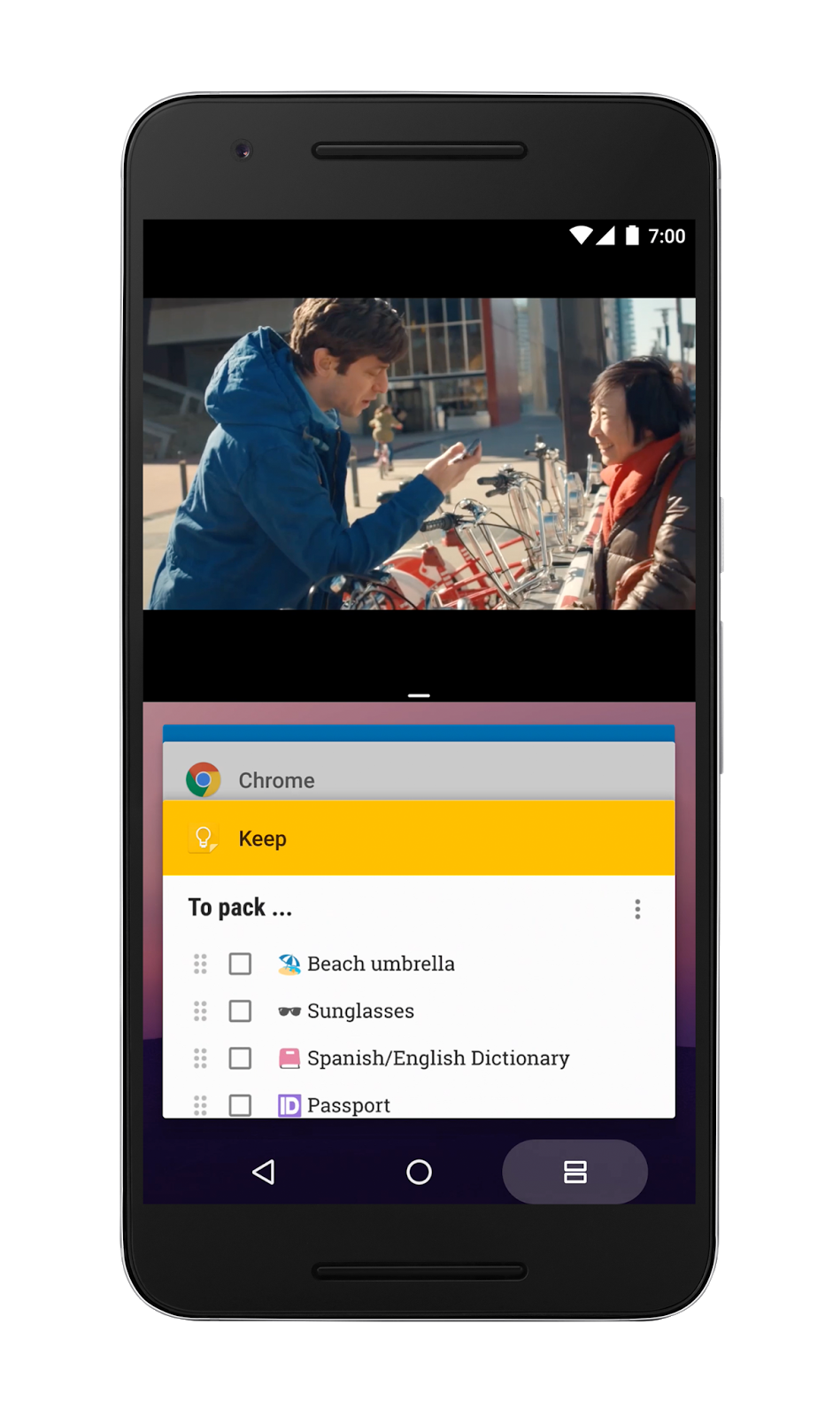 Android 7.0 Nougat Multi window