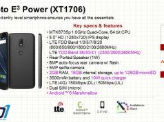 Moto E3 Power XT1706