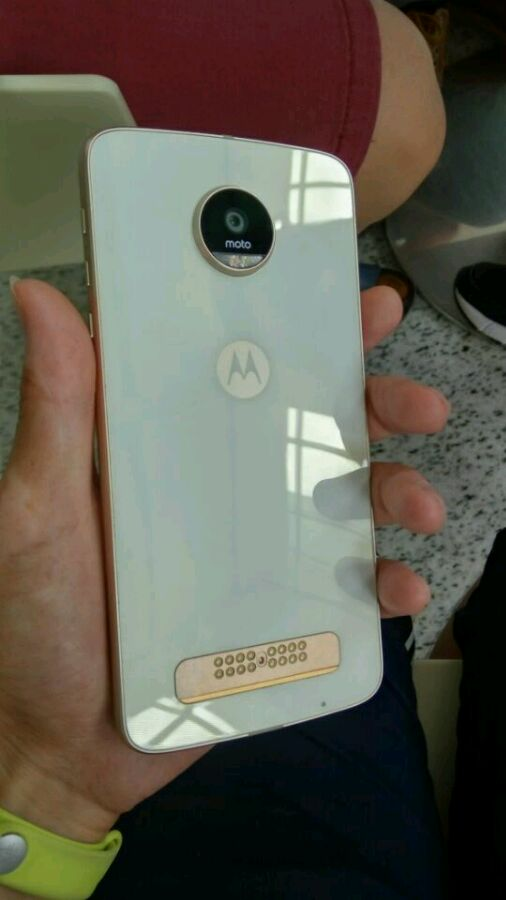 Moto Z Play White leaked