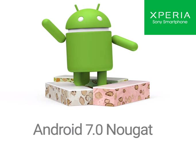 Sony Android 7.0 Nougat update