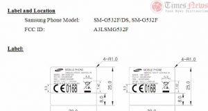 Galaxy Grand Prime 2016 SM-G532F FCC