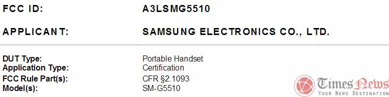 SM-G5510 FCC