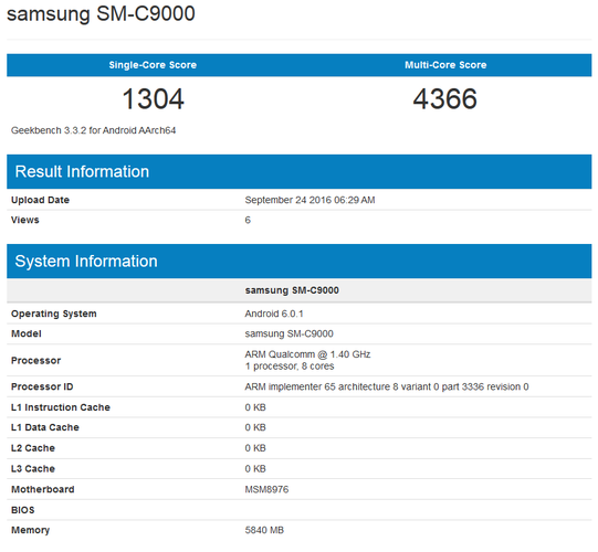 12417 Samsung Galaxy C9 Geekbench Listing Reveals 6gb Ram Snapdragon 652 Processor on tracking device chip