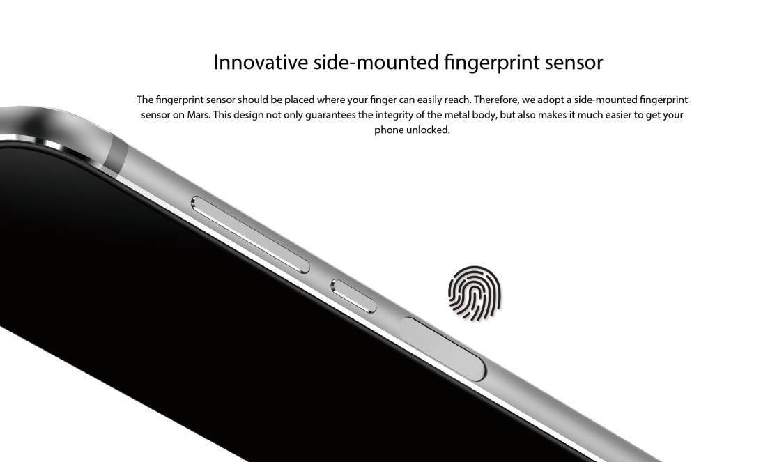Vernee Mars fingerprint scanner