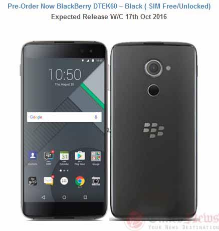 Blackberry DTEK60 Handtec UK