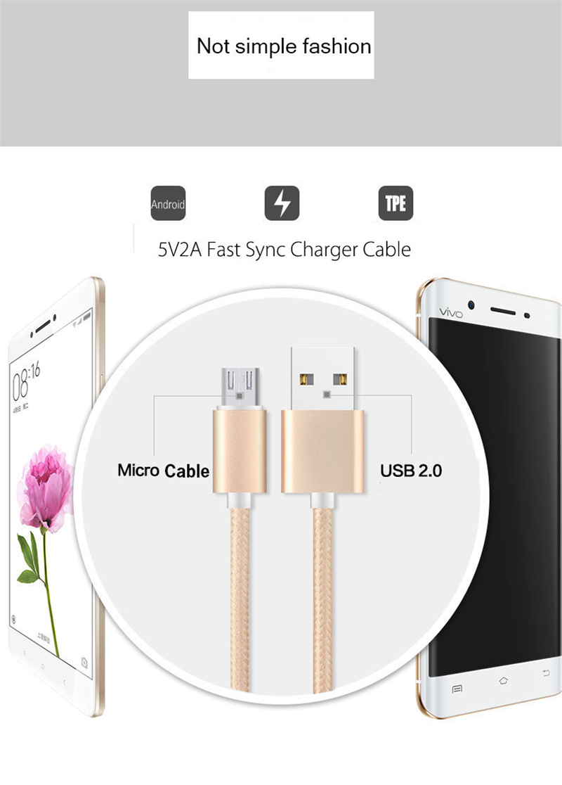 High Speed Transmission Micro USB Cable