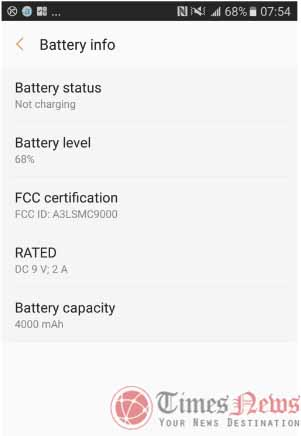 Samsung Galaxy C9 SM-C9000 FCC battery