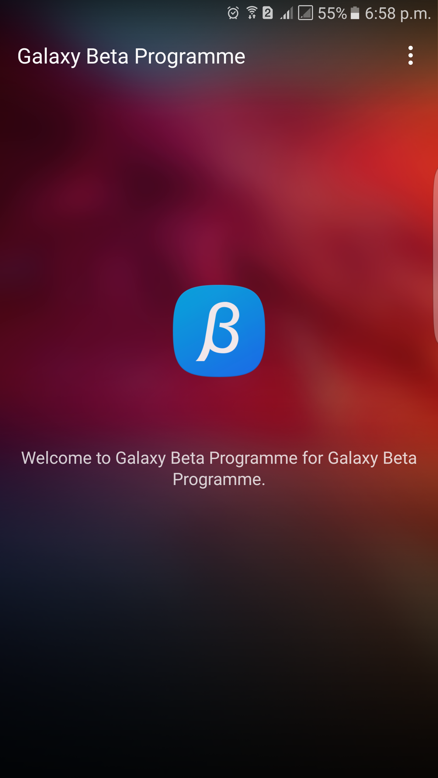 Galaxy Beta program App