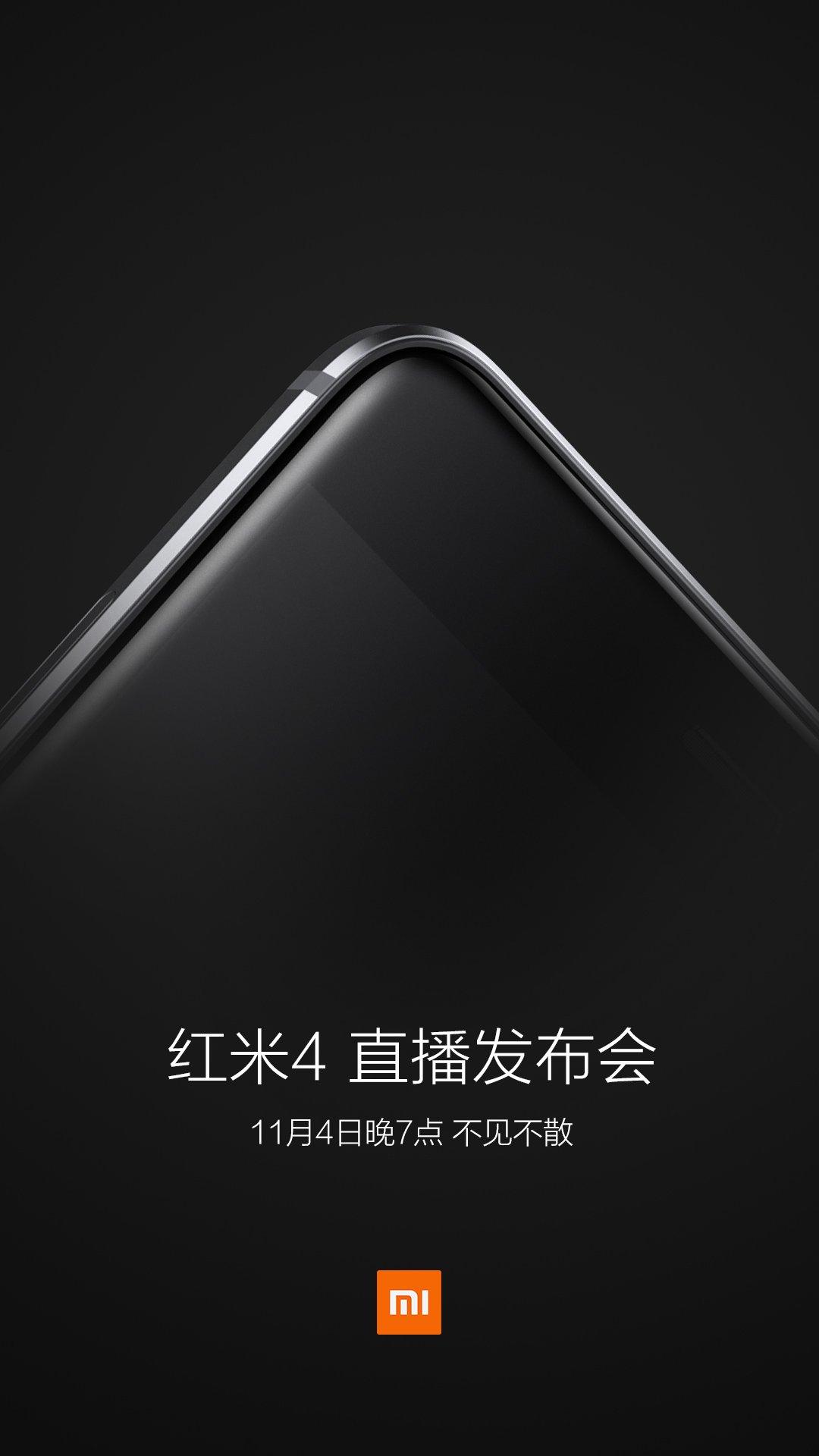 Xiaomi Redmi 4 November 4 teaser