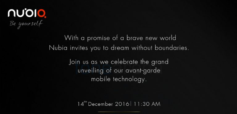 Nubia Z11 launch india teaser December 14
