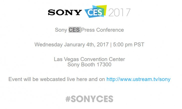 Sony CES 2017 event January 4