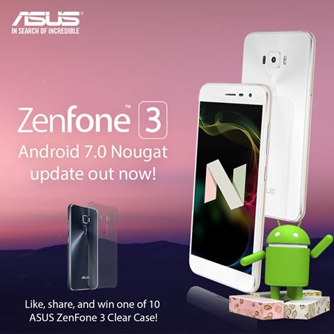 Android 7.0 Nougat update Asus Zenfone 3