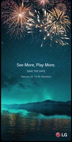 LG G6 February 26th MWC 2017 event