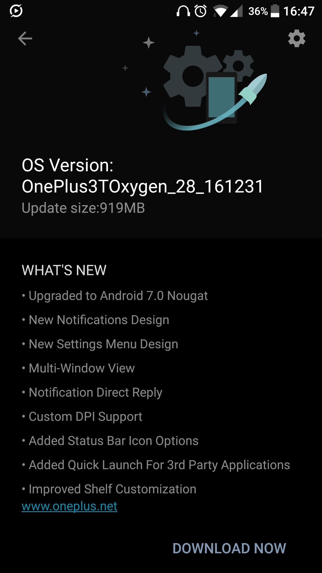 OnePlus 3 and 3T Nougat 7.0 update