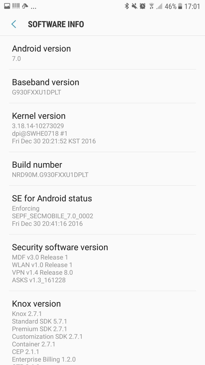 Samsung Galaxy S7 and S7 Edge Andropid 7.0 Nougat update in UK