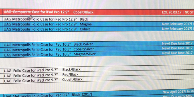 Leaked Screenshot of Apple 10.5 inch iPad Pro